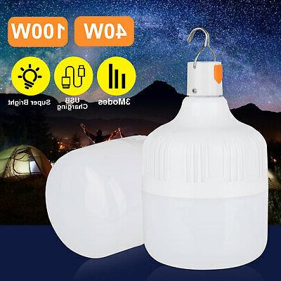 40/100W LED Camping USB Rechargeable Tent Lamp Lantern Lamp