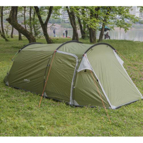 4 Person Double-Walled Waterproof Hiking Beach Backpacking Shelter