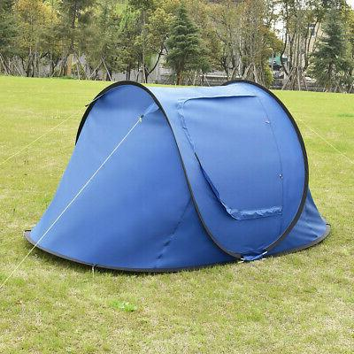 2-3 Camping Tent Automatic Pop Up Quick Shelter Outdoor