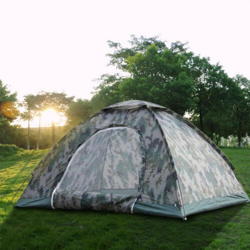 2-4 Outdoor Camping 4 Tent Camouflage Hiking
