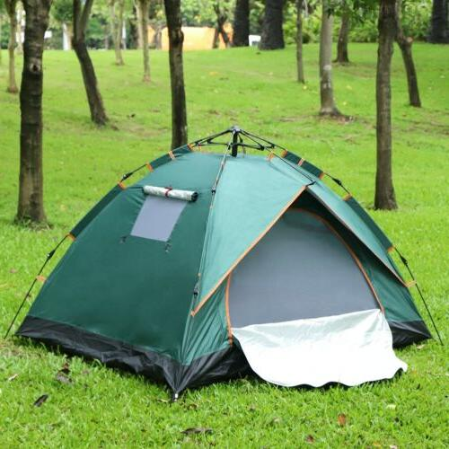 2 Person Automatic Pop Up Hiking Tent Waterproof UV
