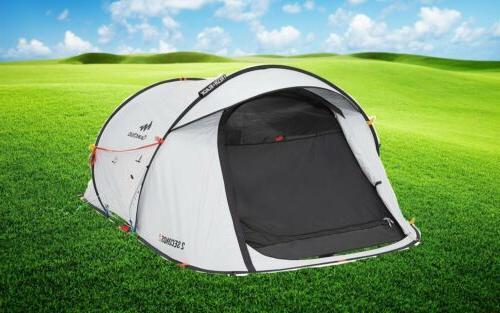 Quechua 2 Seconds II FRESH BLACK 2 Waterproof Pop Up Camping