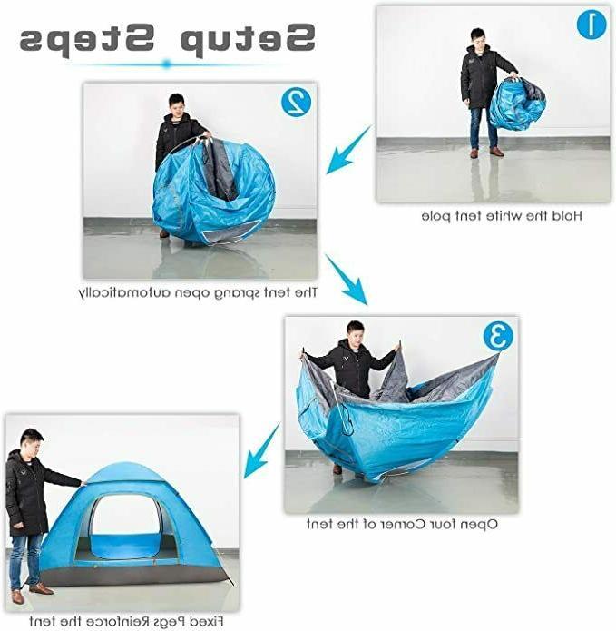 3-4 People Waterproof Outdoor Tent Hiking