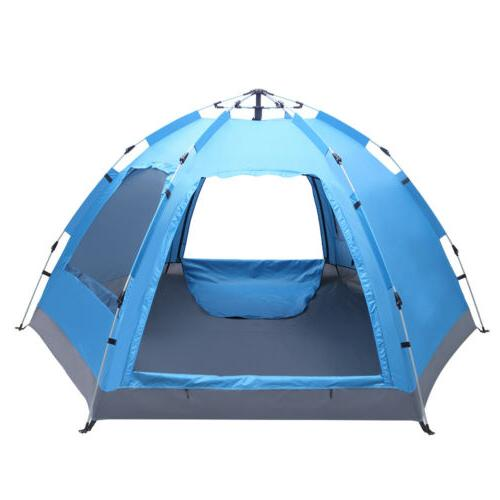 3-4 Dome Tent Instant Pop Waterproof Double Layer Sun Canopy