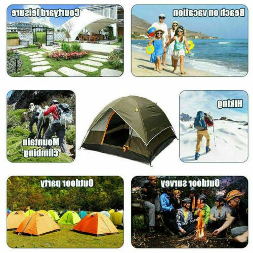 3-4 Camping Tent 210T Double-layer Pop