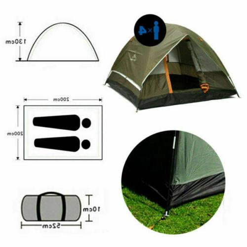 3-4 Person Camping 210T Double-layer Pop Up