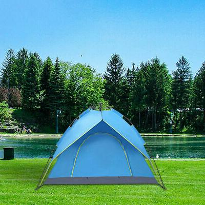 3-4Person Camping Waterproof Automatic Up Tent Picnic