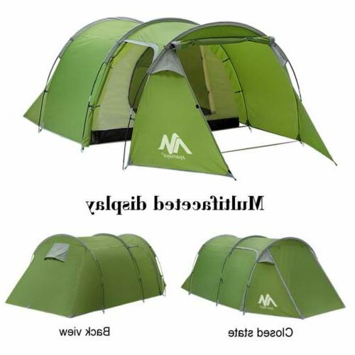4-5 Family Camping Tunnel Tent Waterproof Shelter Hiking Travelling