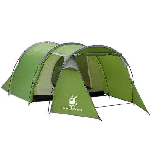 5-6 Person Family Tunnel Tent Hiking Cabin