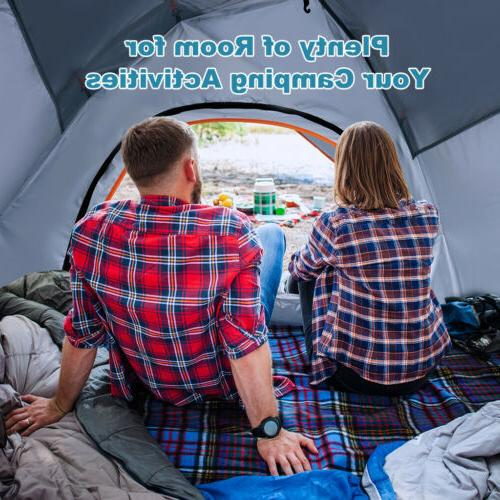 4-Person Instant Camping Double Layer Hiking US