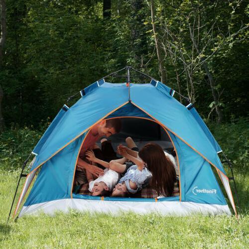 4-Person Camping Tent Layer Hiking Travelling