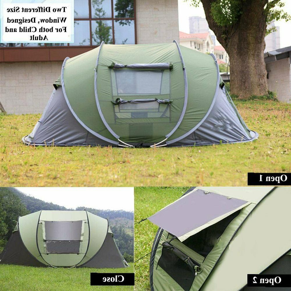 4 Tent Up Waterproof Canopy Blue