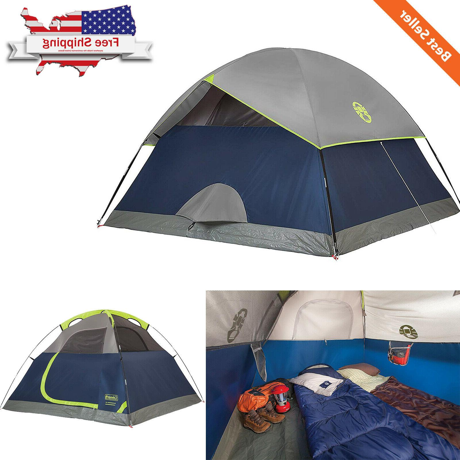 4 Person Camping Tent Sundome All Season Dome Waterproof Out