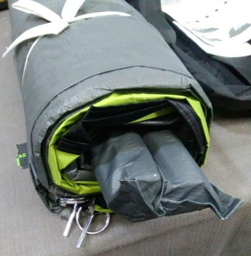 Coleman 4-Person Dark Room Dome Tent with Setup