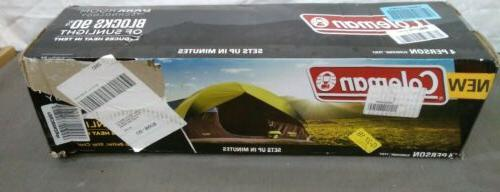 Coleman 4-Person Sundome Room Tent with Setup