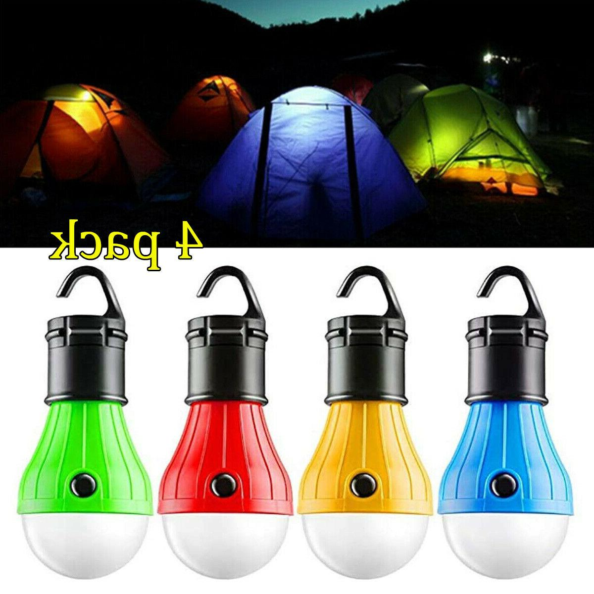 4pack led portable camping tent lamp emergency