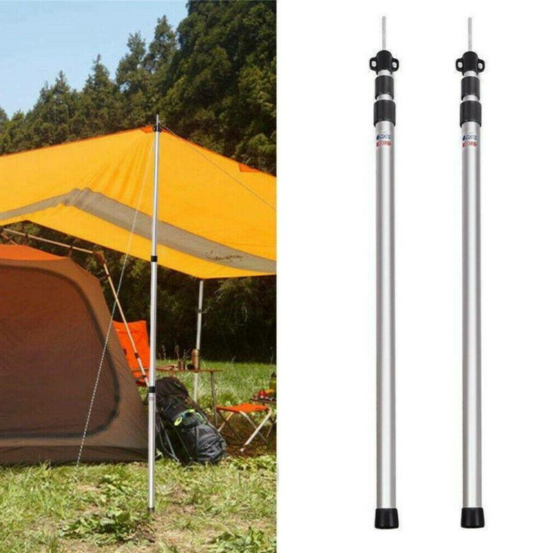 2/4x Aluminum Poles Telescoping Adjustable 90cm-230cm
