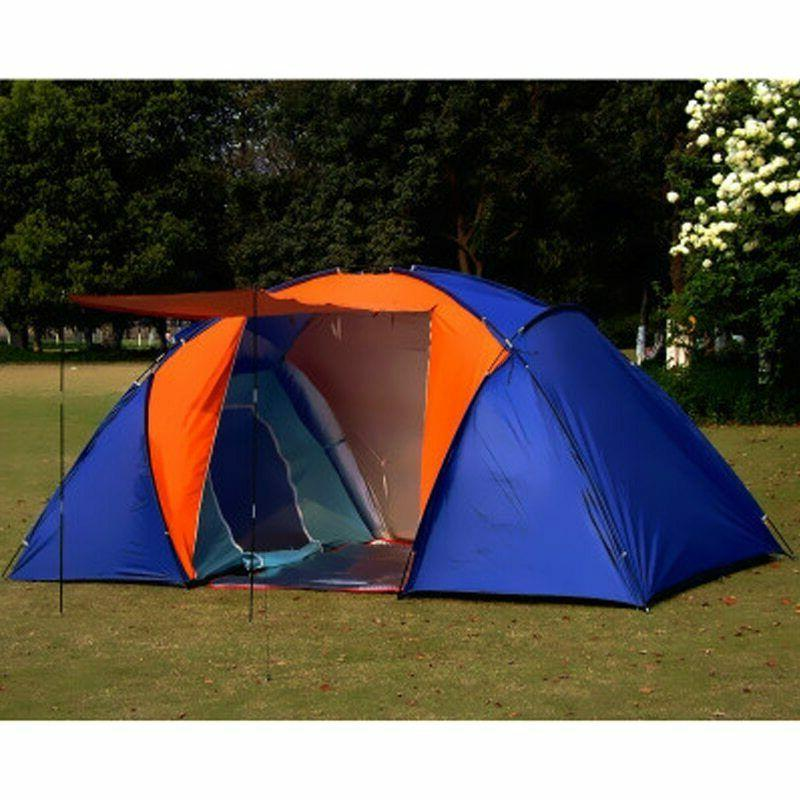5-8 Person Big Tent Layer Two Bedrooms For