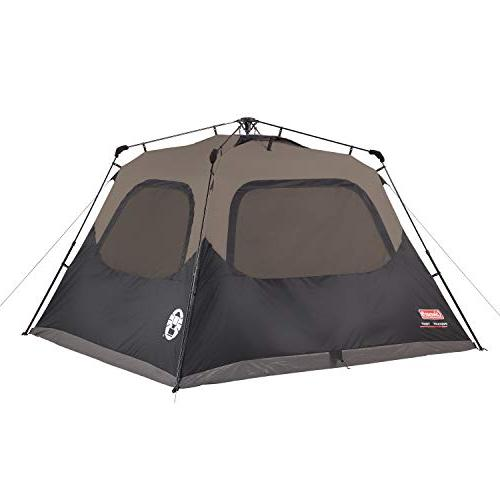 Coleman 6-Person Cabin with   Cabin Tent Sets Up Seconds