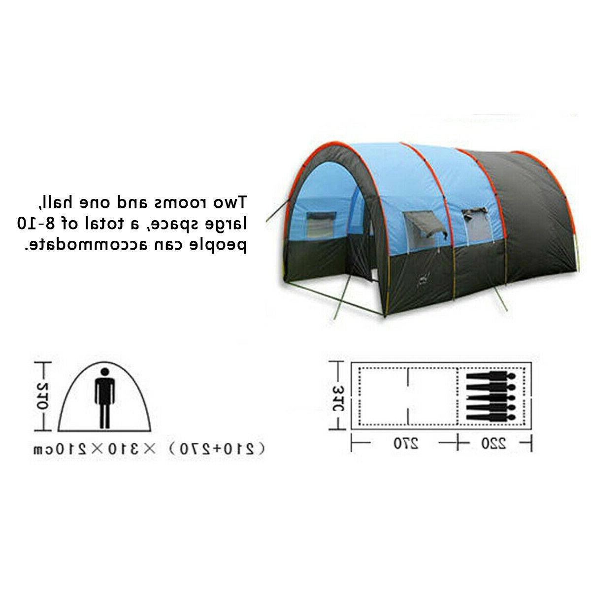 8-10 People Waterproof Portable Travel Layer Tent