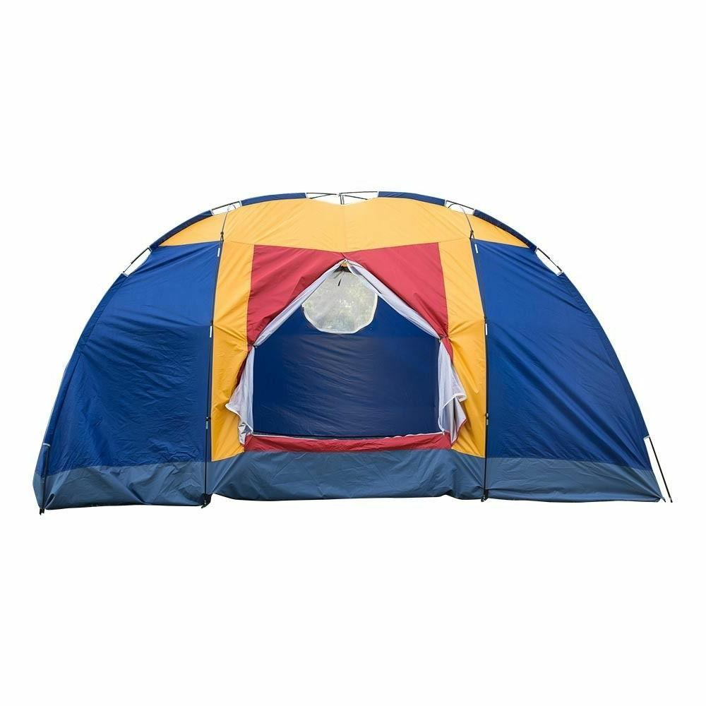 8 Person Portable Large Tent Camping Hiking &Blue