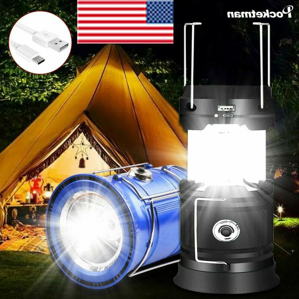 80000lm led camping lamp solar power flashlight
