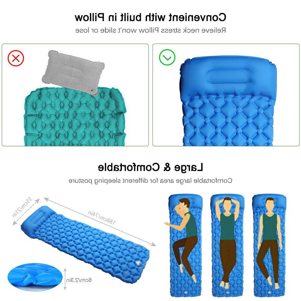 Self Mat Outdoor Sleeping Pad Pillow Air Tent