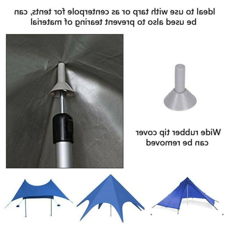 Set of Adjustable Camping Tarp Telescoping Tent Poles US