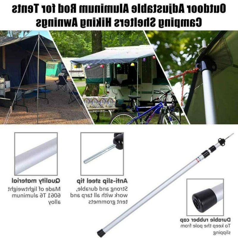 Set Adjustable Camping Telescoping Tent Poles US