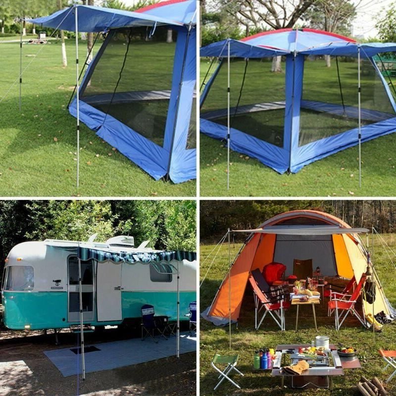 Set Adjustable Camping Telescoping Tent Outdoor US
