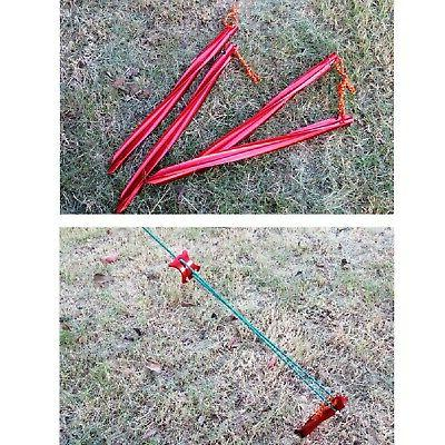 Azarxis Aluminum Stakes Pegs for Camping