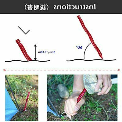 Azarxis Aluminum Stakes Pegs Heavy Duty Lightweight For Camping Sand 10