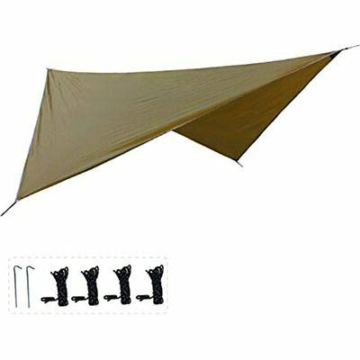 azarxis rain fly camping shelter tarp 12