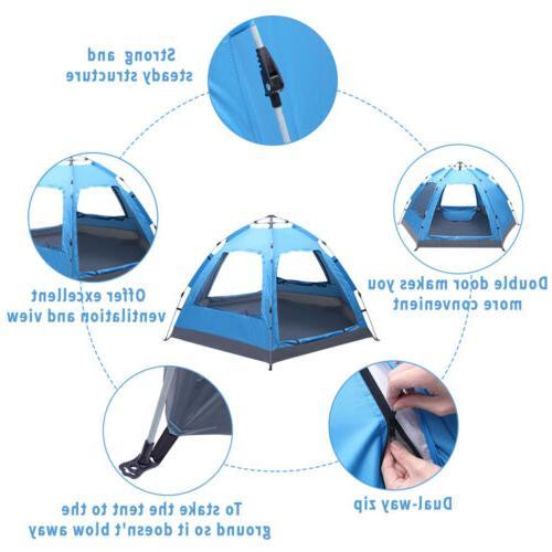 3-4 Tent Pop Waterproof Double Sun Canopy