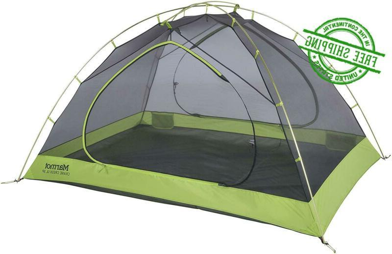 camping tent backpacking 3 person cabin green