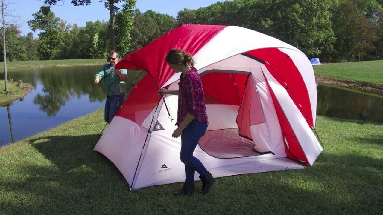 Dome Camping Tent 6 Person Large Storage Locker Seam-taped R