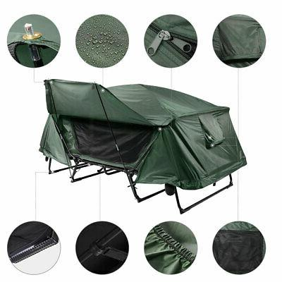 Double Tent Cot Folding Portable Waterproof Bed Fly
