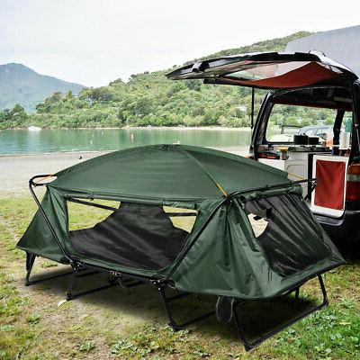 double camping tent cot folding portable waterproof