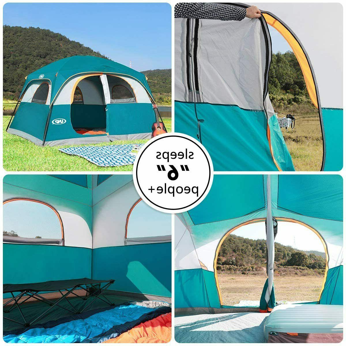 Original Camping Tents 6 Person Waterproof Windproof Easy