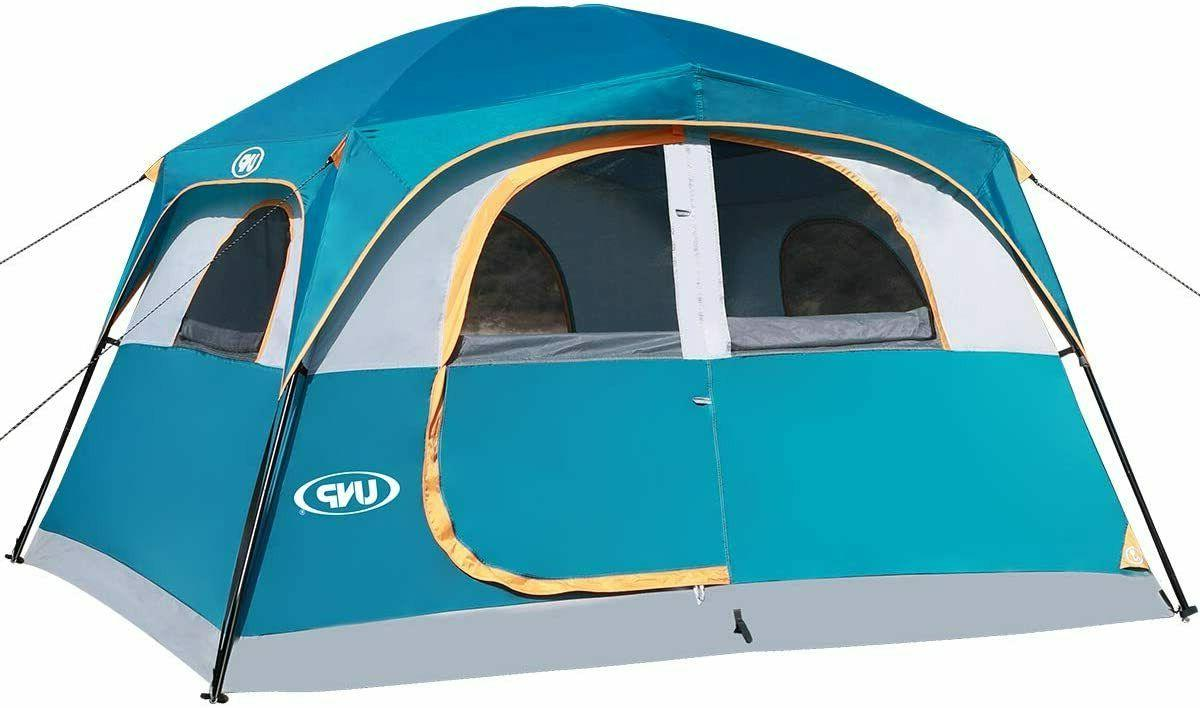 double layer family camping tents 6 person