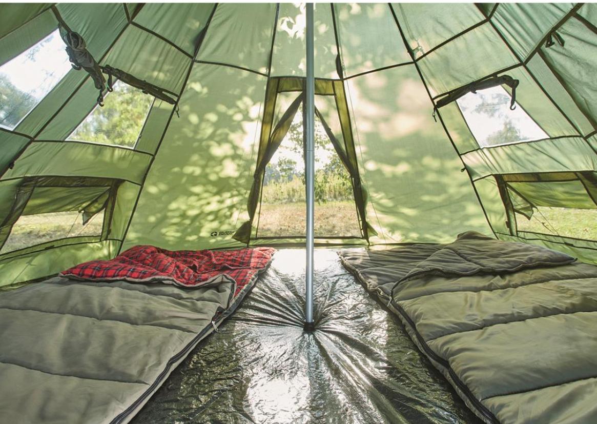 Family Teepee Sleeps Camp Army Shelter