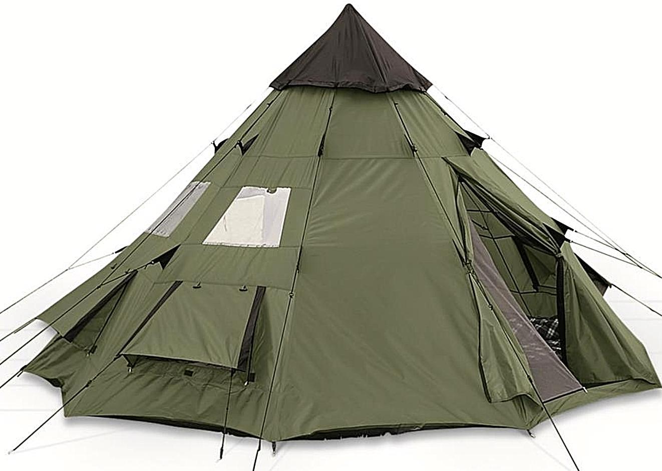 family teepee tent 10x10 sleeps 6 people