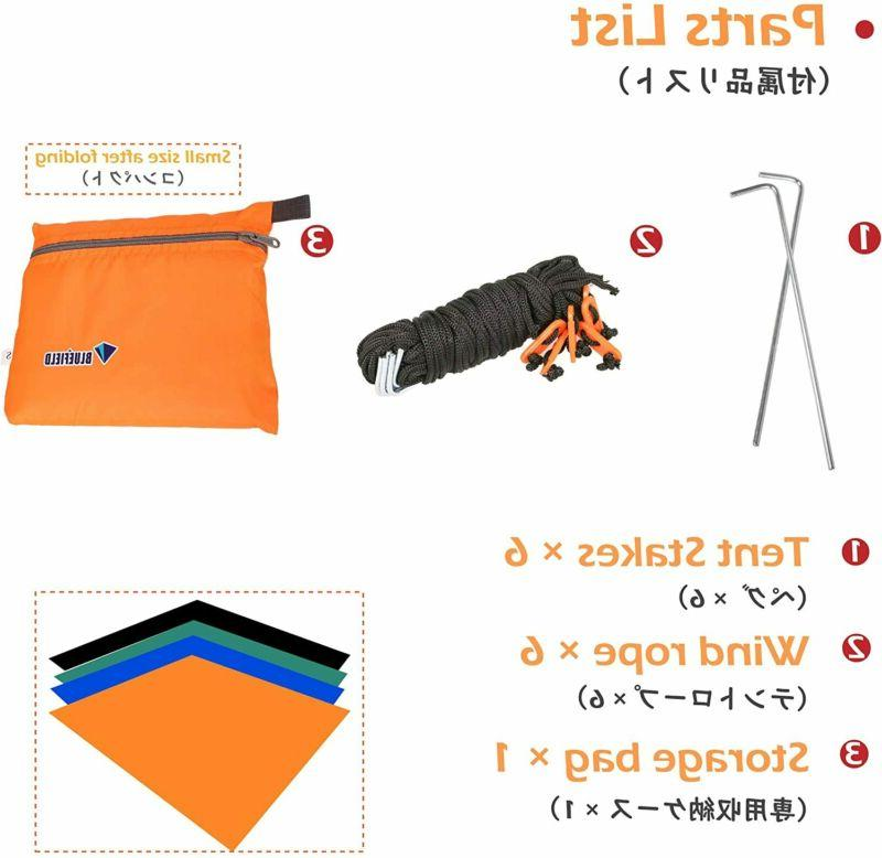 Azarxis Tent Tarp Footprint Backpacking Saver Gro