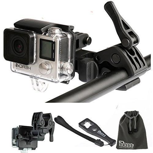 EEEKit Gun/Fishing Clip Mount for GoPro HERO4 HERO+ Black, HERO, HERO3, SJCAM SJ5000