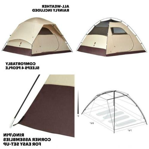 HD 4 Tent: 4-Person 3-Season Waterproof Camping Tent Freesta