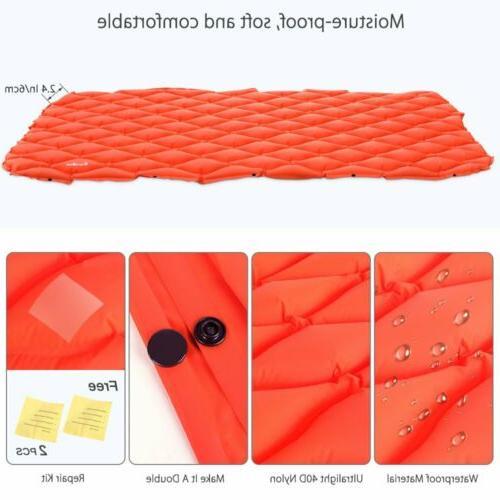 Inflatable Mattress Tent Mat Hiking Travel Sleeping