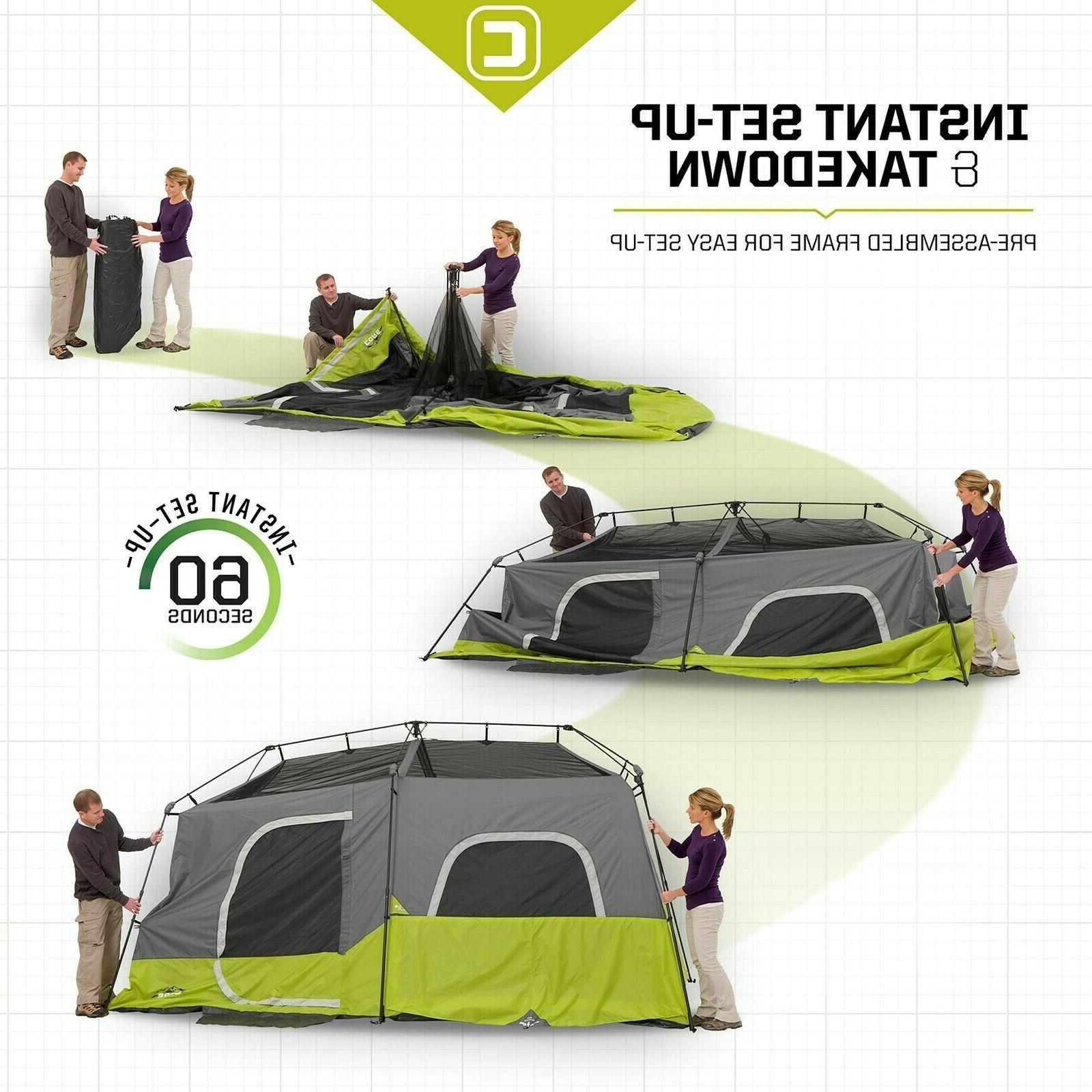 Instant Cabin Tent with Room Outdoor Camping Picnic