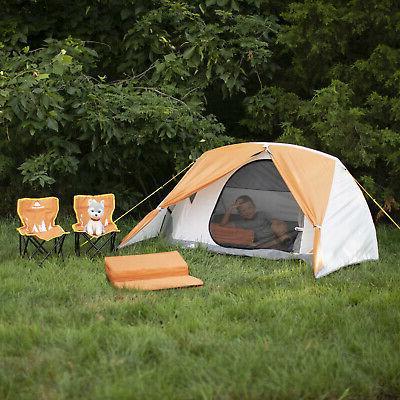 kids camping kit w tent chairs sleeping