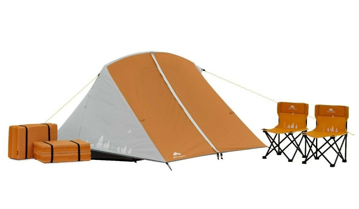 kids camping kit with tent chairs