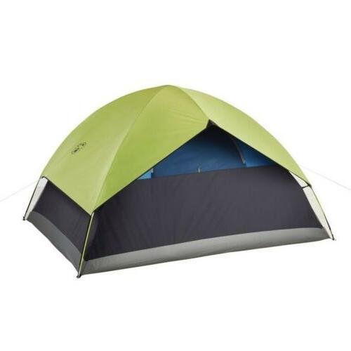 NEW 4-Person Sundome Dark Room Camping Tent Easy